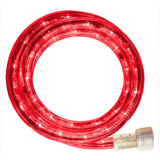 120 Volt Led String Lights : Incandescent - 24 ft. - Rope Light - Red - 120 Volt
