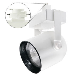 White - Round Back Cylinder - Operates 100 Watt PAR38 Metal Halide - Compatible with Halo Track - Built-In Electronic Ballast - Nora Lighting NTM-5038/100W