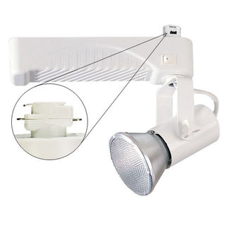 Nora NTM-6430/70W - White - Lamp Holder and Gimbal - Operates 70 Watt PAR30L Metal Halide - Compatible with Halo Track - Built-In Electronic Ballast