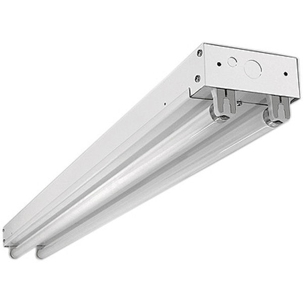 8 Ft 2 Lamp Fluorescent Strip Light White No Ssf2964wp 8ft: (2 Lamp) F25T8 Fluorescent Strip Fixture