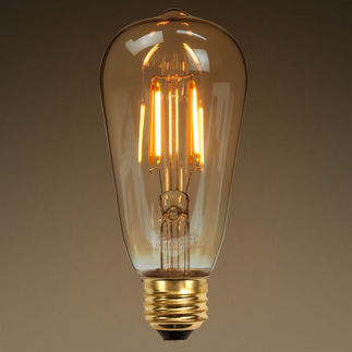 edison style antique led filament bulb 60w equal glass with amber. Black Bedroom Furniture Sets. Home Design Ideas