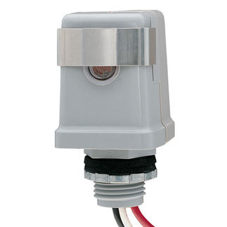 Intermatic K4141C - Photo Control - Thermal Type Photocell - Stem Mounting - Dusk-To-Dawn - 120 Volt