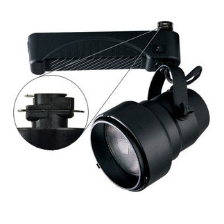 Black - Shroud with Reflector - Operates 70 Watt PAR38 Metal Halide - Compatible with Halo Track - Built-In Electronic Ballast - Nora Lighting NTM-6638/70B