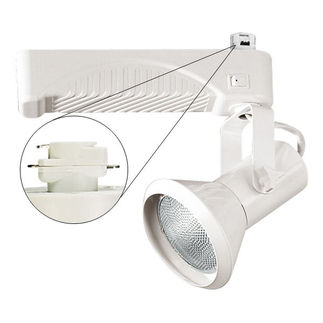 Nora NTM-6330/70W - White - Cone and Gimbal - Operates 70 Watt PAR30 Metal Halide - Compatible with Halo Track - Built-In Electronic Ballast