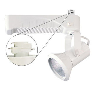 Nora NTM-6320/35W - White - Cone and Gimbal - Operates 39 Watt PAR20 Metal Halide - Compatible with Halo Track - Built-In Elect
