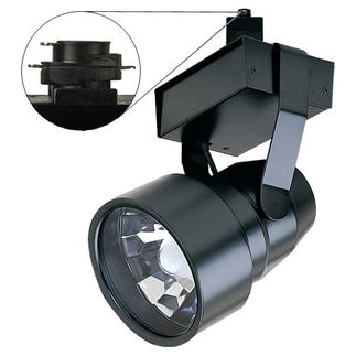 Black - Shroud with Reflector - Operates 100 Watt ED17 Metal Halide - Compatible with Halo Track - Built-In Electronic Ballast - Nora Lighting NTM-5617/100B