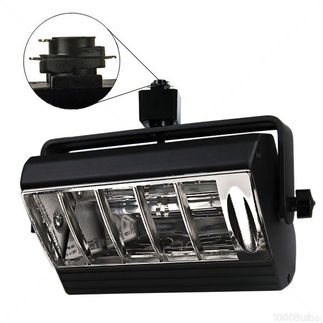 Nora Track Light NTF-2642B - Black - Black Louver - Operates 26-42 Watt Triple Biax Lamp