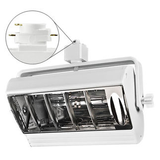 Nora NTF-2642W - White - White Louver - Operates 26-42 Watt Triple Biax Lamp - Compatible with Halo Track - Built-In Electronic Ballast
