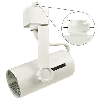 Nora NTH-109W - White - Universal Lamp Holder - Operates PAR38 - Compatible with Halo Track - 120 Volt