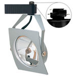 Nora NTL-250S - Silver - Sail - Operates 20-50 Watt AR111 - Compatible with Halo Track - Built-In 12 Volt Electronic Transformer