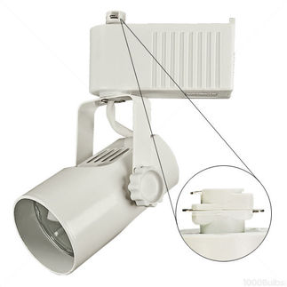 Nora NTL-215/75W - White - Telescope - Operates 20-75 Watt MR16 - Compatible with Halo Track - Built-In 12 Volt Electronic Transformer