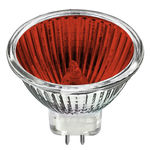MR11 Halogen 20 Watt - MR11 - Red - 36 Degree - 12 Volt - 2,000 Life Hours - GU4 Base - Bulbrite 637320