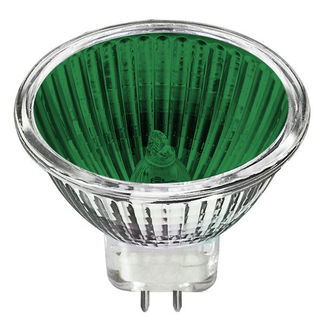 Bulbrite 637220 - 20 Watt - MR11 - Green - GU4 Base - 2,000 Life Hours - 12 Volt
