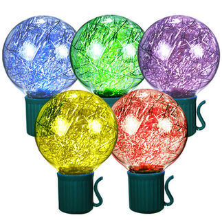 (25) Bulbs - LED - RGB Color Changing G40 Lights - Length 25 ft. - Bulb Spacing 12 in. - 120V - Green Wire