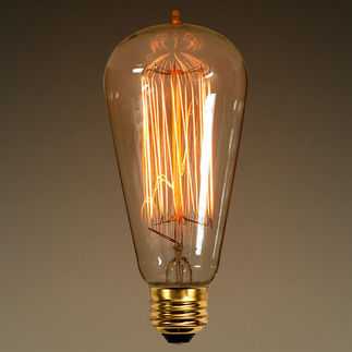 60 Watt - Vintage Antique Light Bulb - S21  Marconi Style Hand-Wound Tungsten Filament - Multiple Supports - Clear