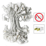 C9 Stringer - 50 Foot - 50 Sockets - 12 in. Spacing - White Wire - Commercial Christmas Lights - HLS C9-50W C9 Stringer