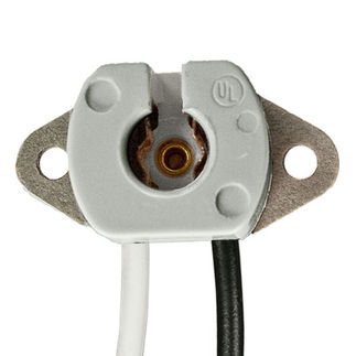 T5 Mini Bi-Pin Socket - 75 Watt - 250 Volt - 10 in. Leads - PLT L-420