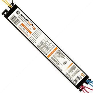 GE UltraMax H 74117 - 120/277 Volt - Instant Start - Ballast Factor 1.18 - Power Factor 99% - Min. Temp. Rating -20 Deg. F - Operates (5 or 6) F32T8 Linear Fluorescent Lamps