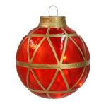 Illuminated - Hanging Mosaic Ball - Red - 11.5 in. - 10 Bulbs - Barcana 57-1078-01