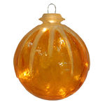 Illuminated - Hanging Icy Ball - Gold - 12 in. - 10 Bulbs - Barcana 57-1076-02