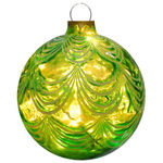 Illuminated - Hanging Sandstone Draped Ball - Green - 12.5 in. - 20 Bulbs - Barcana 57-1100-05