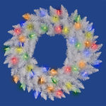 2.5 ft. Wreath - Sparkle White - Spruce - Multi-Color LEDs