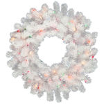 3 ft. Wreath - Crystal White - Frosted Warm White LEDs