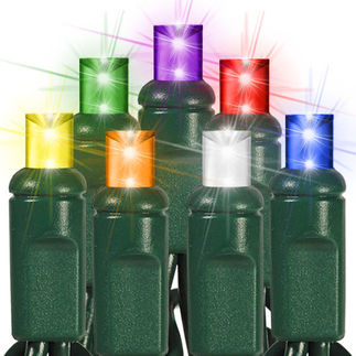 Frost - 7 Colors - Length 25 ft. - Bulb Spacing 6 in. - 120V - Green Wire