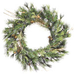20 in. Wreath - Green - Mixed Country Pine - Unlit
