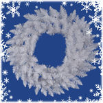 2.5 ft. Wreath - Sparkle White - Spruce - Unlit