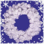 2.5 ft. Wreath - Crystal White - Unlit