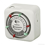 Intermatic TN311 - 24 Hour Mechanical Indoor Timer - 1 Grounded Outlet - 15 Amps - 125 VAC