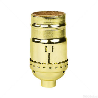 Keyless Polished Gilt Brass - Medium Base Socket - 1/8 IPS - PLT D18