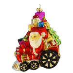 Santa on Train Christmas Ornament - Shatterproof - 5 in. - Red and Multi-Color