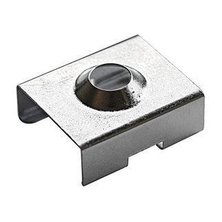 Klus 1345 - Chrome Bracket for Mounting Channel - PDS4/Micro - ALU LED Profile - For LED Tape Light
