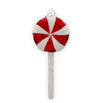 Peppermint Lollipop Christmas Ornament - Shatterproof - 4.5 in . - Red and White - 4 Pack