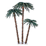 6 ft. Christmas Palm Tree - 450 Clear Mini Lights - Sterling 5208-3556C