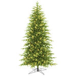 9 ft. x 54 in. - Slim Belvedere Fir - 3194 Realistic Molded Tips - 700 Warm White LED Mini Lights - Barcana Artificial Christmas Tree