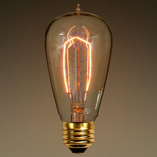 40 Watt - Vintage Antique Light Bulb - Edison Style - Hairpin Tungsten Filament - Clear
