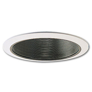 Nora NTM513B - 5 in. - Black Airtight Baffle Cone with White Trim
