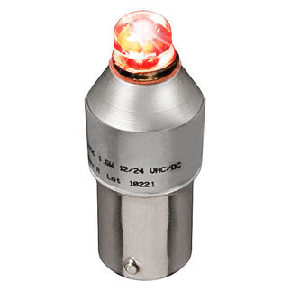 1.5 Watt - Dimmable LED - SC Bayonet Base - Red - 30 Lumens - 15 Watt Halogen Equal - 12 Volt - PLT SCBAYRED