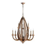 Quorum 6166-9-21 - Chandelier - 9 Light - Early American Finish
