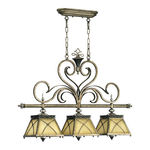 Quorum 6575-3-87 - Island Pendant - 3 Light - Byzantine Bronze Finish