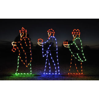 7 ft. - C7 LED - Nativity Scene Three Wise Men - 120 Volt