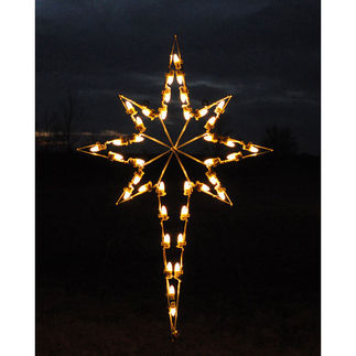 4.75 ft. - C7 LED - Hanging Star of Bethlehem - 120 Volt