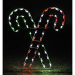 5 ft. - C7 LED - Spearmint/Peppermint Crossed Candy Canes - 120 Volt