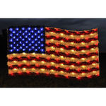 3 ft. x 6 ft. - Red, White, Blue - C7 LED - Hanging US Flag - 120 Volt