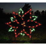 2.9 ft. x 3.3 ft. - C7 LED - Small Poinsettia - 120 Volt