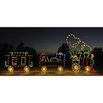 7.4 ft. x 16.5 ft. - C7 LED - Animated 3-Car Train Set - 120 Volt