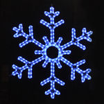 3 ft. - Blue - LED Rope Light - Hanging Snowflake - 120 Volt